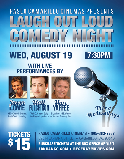Laugh Out Loud Comedy Night at Paseo Camarillo Cinemas!