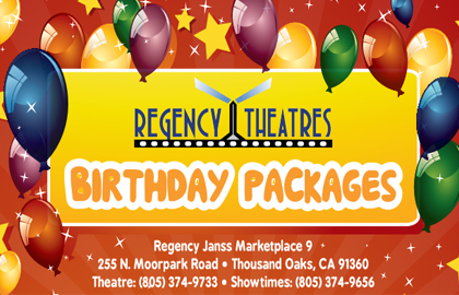 Birthday Party Packages offered at our Janss Marketplace 9!