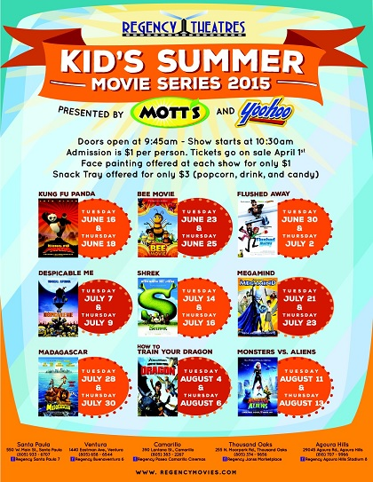 Kid's Summer Movie Series