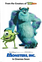 movie poster for Monsters Inc.